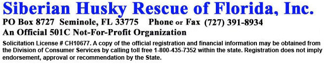 Siberian Husky Rescue of Florida, Inc.